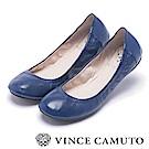 VINCE CAMUTO 芭蕾女伶 高質感真皮平底娃娃鞋-藍色