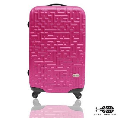 Just Beetle◀迷宮系列◀好收納24吋ABS輕硬殼行李箱-甜蜜桃