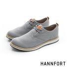 HANNFORT CANYON斜紋布休閒氣墊鞋-男-質感灰