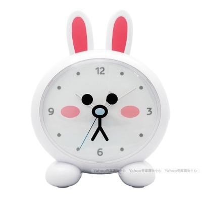 LINE FRIENDS 可愛立體造型靜音LED夜燈音樂鬧鐘(兔兔款)JM-F102LE-CY
