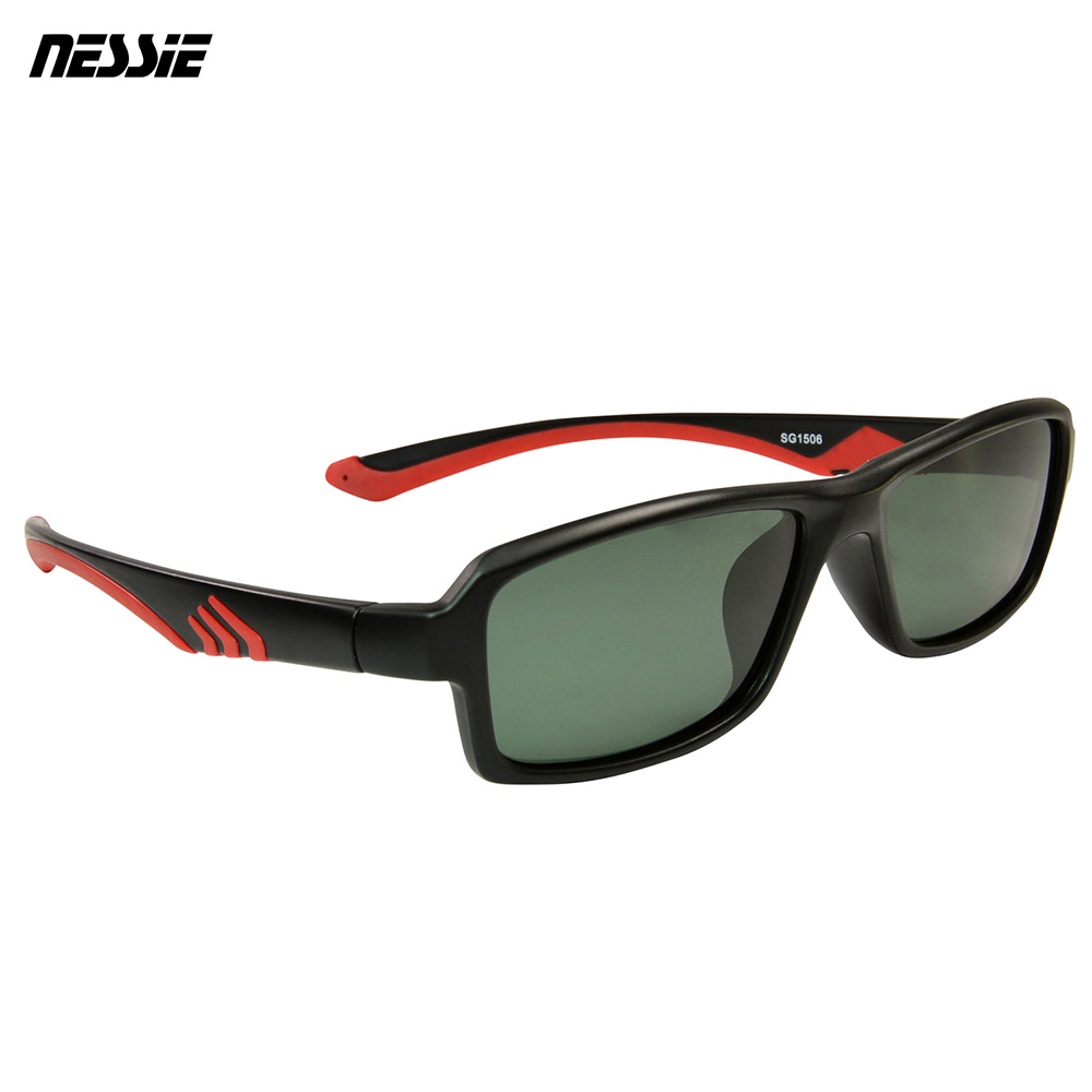 Nessie尼斯眼鏡 經典休閒偏光太陽眼鏡-獵豹黑紅