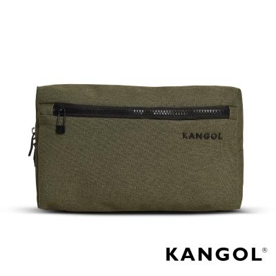 KANGOL 韓國經典側背休閒包/學生包/情侶包-混織綠 KG1152