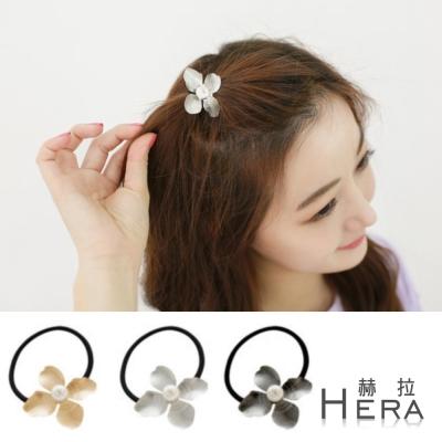 Hera 赫拉 珍珠壓紋四葉草髮圈/髮束-3色