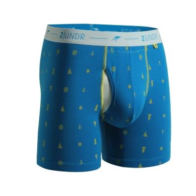 2UNDR Day Shift 舒棉透氣排汗內褲(6吋)-藍花色