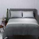 Yvonne Collection狗狗條紋單人兩件式床組-灰色