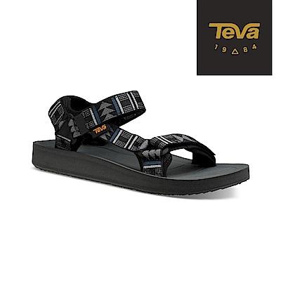 TEVA 美國 男 Original Premier 經典織帶涼鞋 圖騰灰