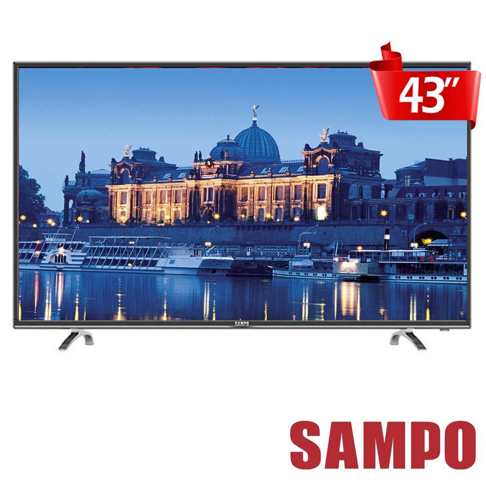 SAMPO聲寶 43吋低藍光LED液晶顯示器+視訊盒 EM-43AT17D