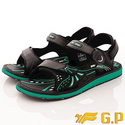 GP時尚涼拖-磁扣兩穿涼鞋-SE684M-60綠(男段)