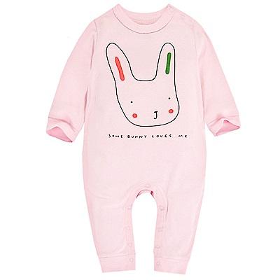 Baby unicorn 粉色兔子長袖連身衣