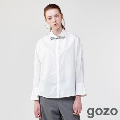 gozo純淨自由微喇叭袖襯衫(二色)-動態show