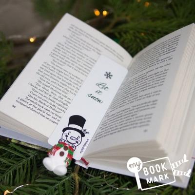 禮物myBookmark手工書籤-愛閱讀的雪人先生