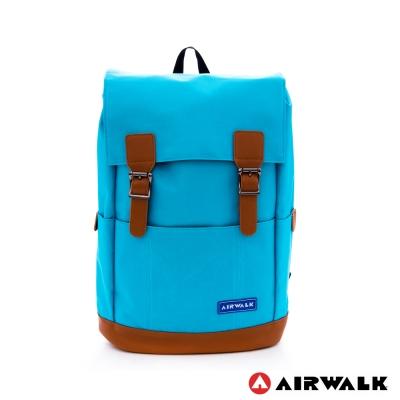 AIRWALK-韓系街頭系列束口後背包-中藍