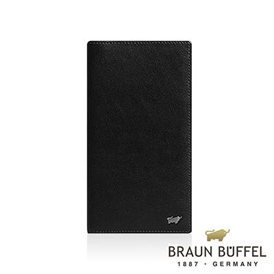 BRAUN BUFFEL 德國小金牛 - LUIS路易斯系列14卡薄型長夾 - 黑色
