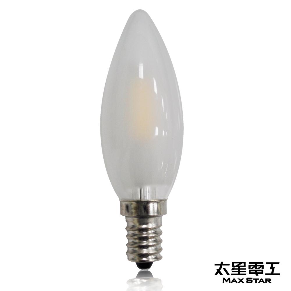 太星電工 星鑽光LED蠟燭磨砂泡E14/0.9W/暖白光  ANC349L