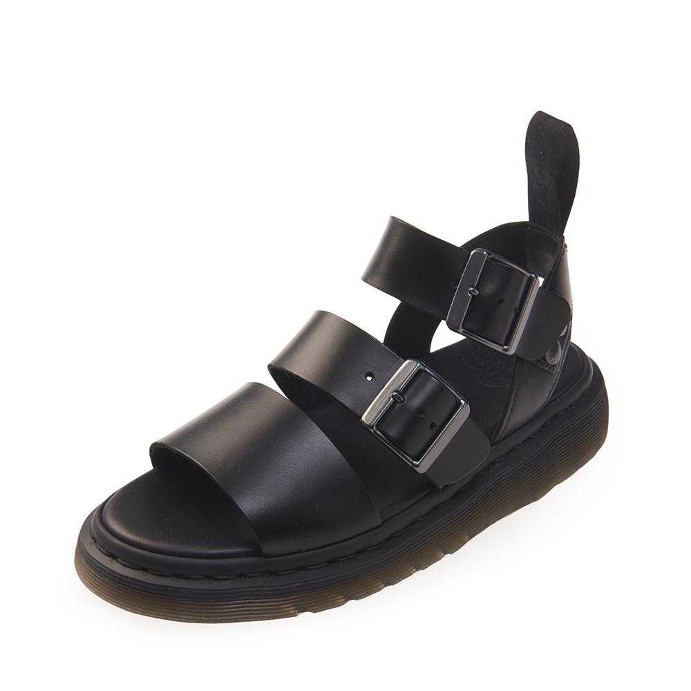 (女) Dr.Martens GRYPHON 三條扣環寬帶涼鞋*黑色