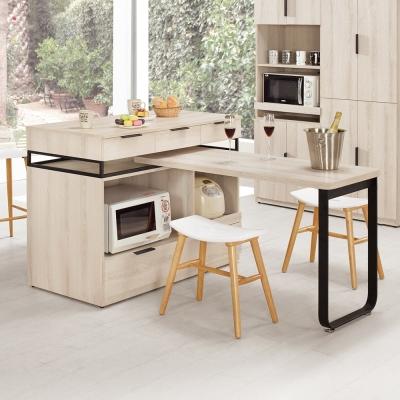 Bernice-諾文4尺中島型多功能餐桌/餐櫃(兩色可選)-126x60x93cm