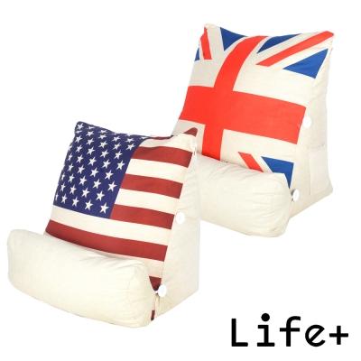 Life Plus 英倫美風立體舒壓靠枕/抱枕/腰靠枕 (2入組)