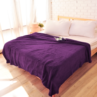 雅曼斯Amance 輕柔舒適暖絨毯 萬用毯 隨意毯-丁香紫