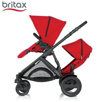 Britax B-DUAL 雙人雙向手推車 紅色