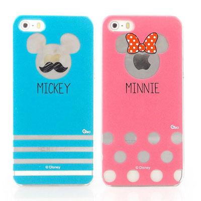 Disney iPhone 5/5S / SE 現代風透明手機殼-米奇/米妮