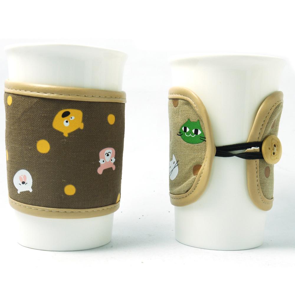 動物陶瓷杯330ml(3入隨機色)