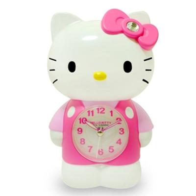 Hello Kitty凱蒂貓 可愛立體公仔玩偶LED夜燈音樂鬧鐘JM-E899-KT