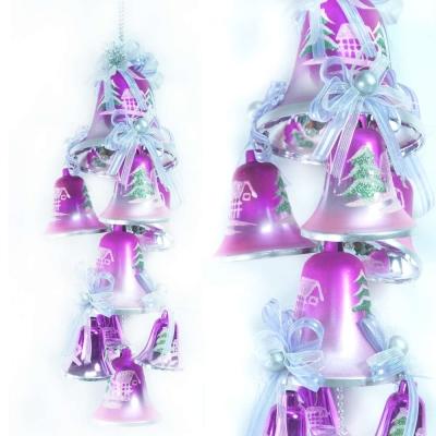 聖誕浪漫彩繪鐘串(銀紫色系)