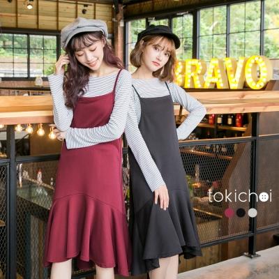 東京著衣 多色兩件式細肩帶魚尾裙洋裝-S.M(共三色)