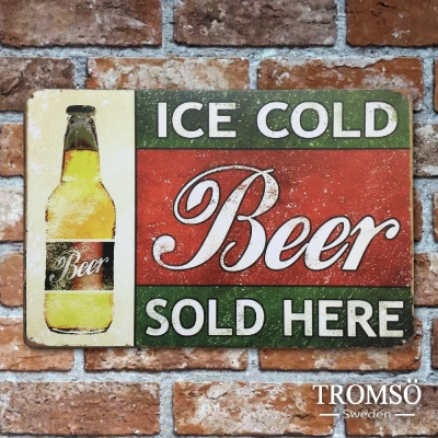 TROMSO紐約街頭廣告鐵牌-復古啤酒
