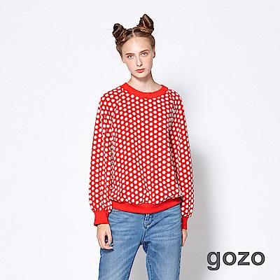 gozo-時髦玩色俏皮波卡點點上衣-二色