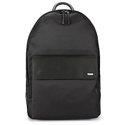 Calvin Klein 經典素面拼接尼龍後背包-黑色
