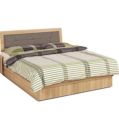 品家居  瑪安5尺雙人床片床台組合(不含床墊)-151.5x198x90.5cm免組