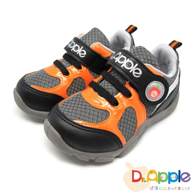 Dr. Apple 機能童鞋 酷玩亮眼運動風童鞋款 黑