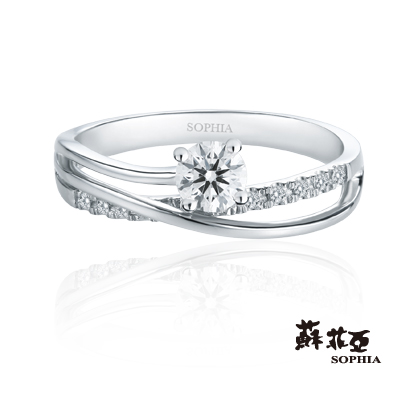 蘇菲亞SOPHIA 求婚戒-伊麗莎白0.30克拉鑽戒