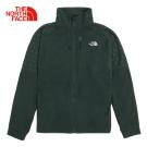 The North Face北面男款綠色保暖舒適絨面外套