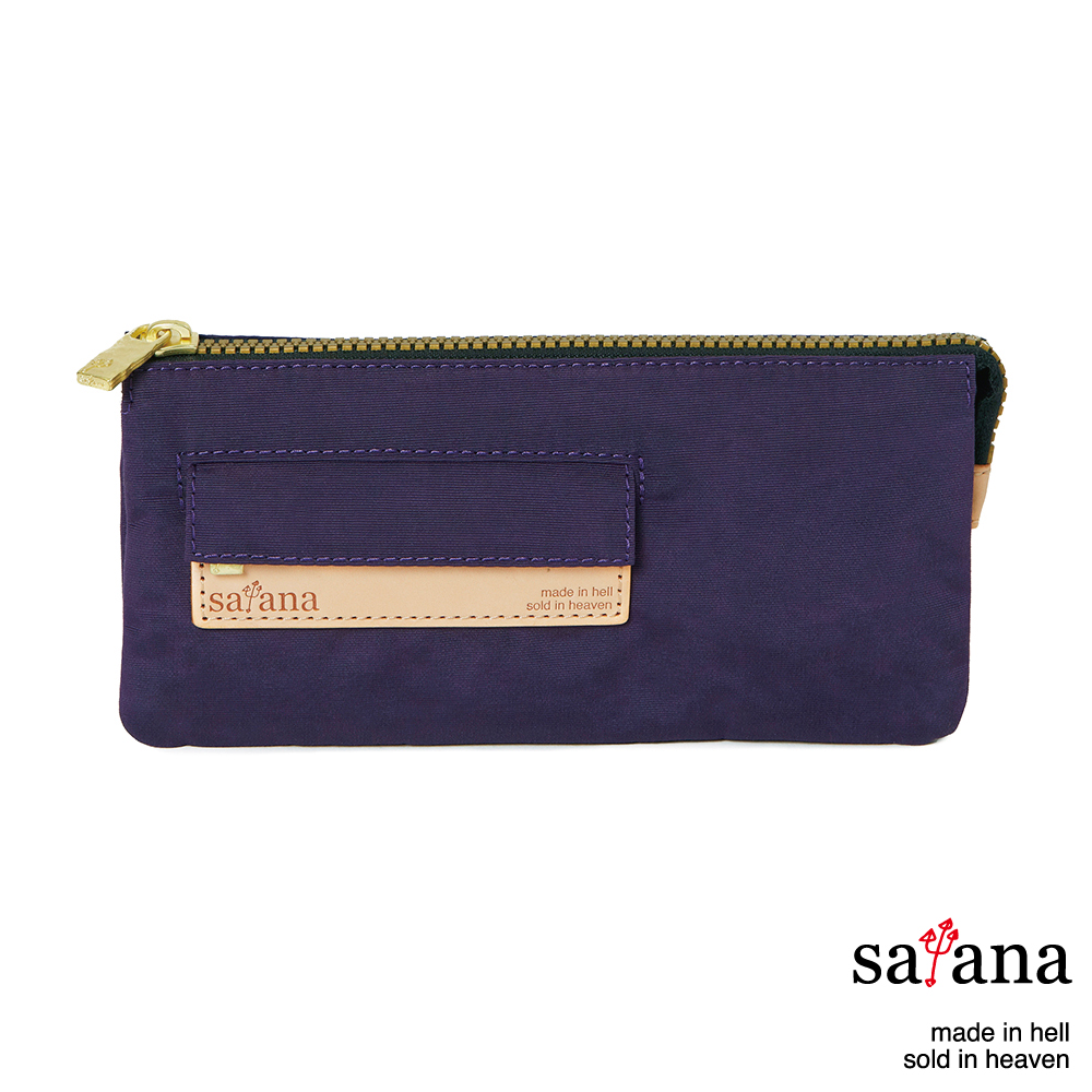 satana - 多夾層拉鍊長夾 - 紫色