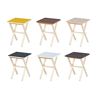品家居 波莉1.3尺休閒桌(六色可選)-40x40x53cm免組