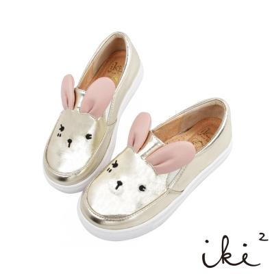 iki2童鞋-咕妮兔親子休閒鞋-金