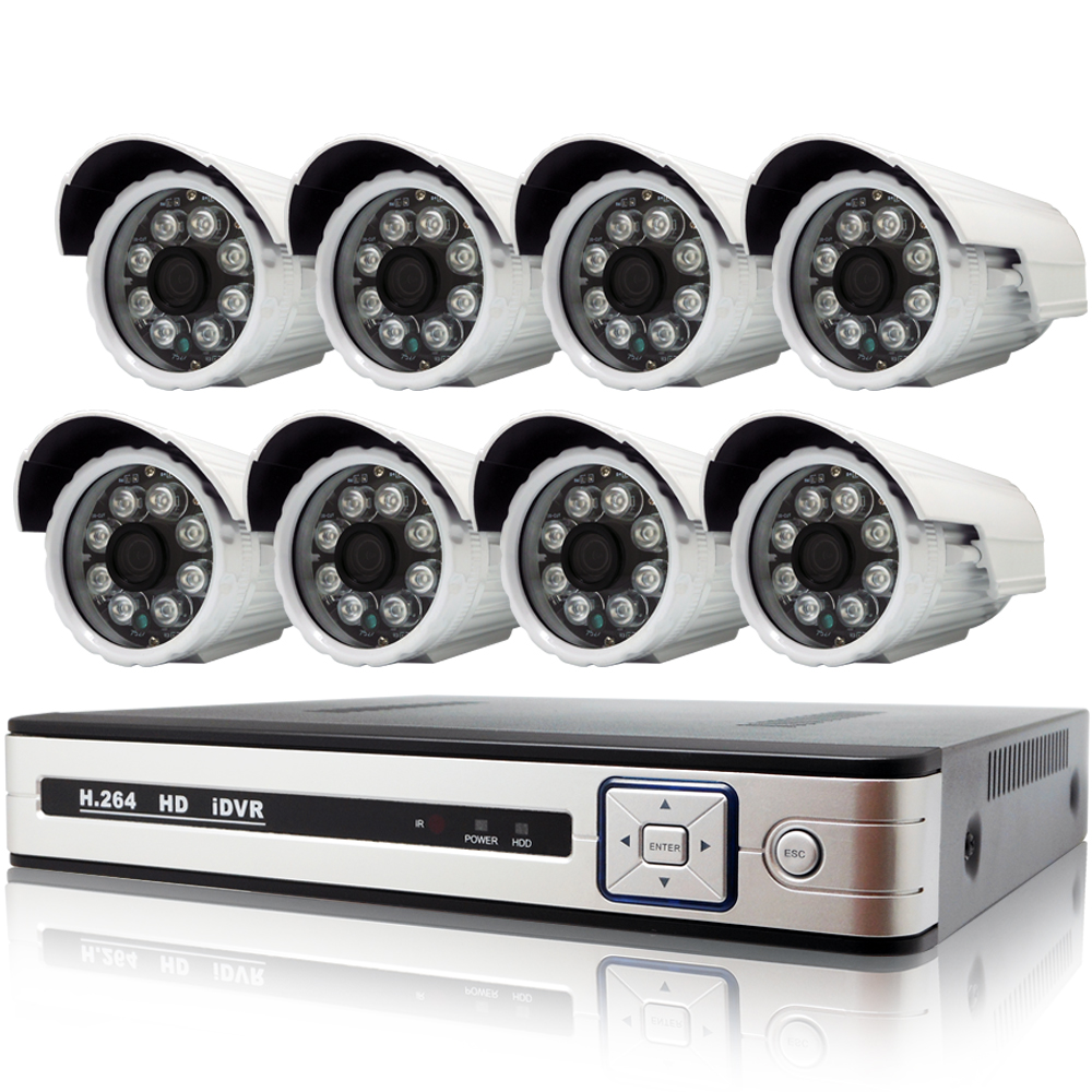 奇巧 AHD 1080P 8路4聲監控系統-含SONY 200萬畫素8陣列燈攝影機