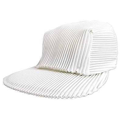 ISSEY MIYAKE 三宅一生PLEATS PLEASE褶紋鴨舌帽(白)