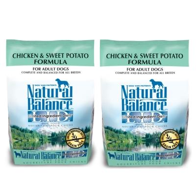 Natural Balance 低敏無穀 地瓜雞肉  全犬 乾糧(小顆粒)4.5磅 x 2