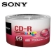 SONY CD-R 700MB 白金片 3760dpi 珍珠白滿版可噴墨光碟片X50片 product thumbnail 1