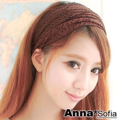 AnnaSofia-花戀勾織-變幻寬髮帶-深咖