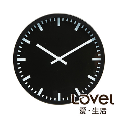 Lovel 25cm摩登膠框靜音時鐘-共6款