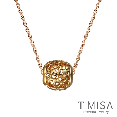 TiMISA 小確幸 金 純鈦串飾 項鍊(SSB)