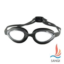 SANQI三奇 夏日必備抗UV防霧休閒泳鏡(102-黑F)
