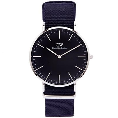 DW Daniel Wellington Cornwall手錶-黑面X黑色/40mm