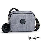 Kipling 斜背包 淺麻藍灰-小