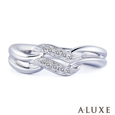 A-LUXE 亞立詩 18K金 雙星鑽石尾戒