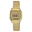 CASIO 小巧復古風米蘭時尚風格數位錶(LA-670WEMY-9)-金/30.3mm